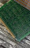Elektronik - bräden för utskrivaven strömkrets Arkivbild