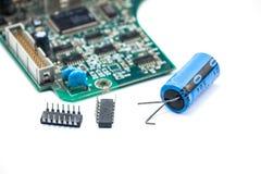 Elektronik breit Stockbild