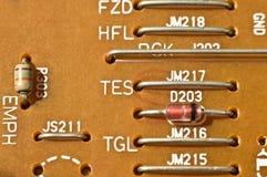 elektronik för brädeströmkretsdetalj Arkivbilder