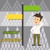 Elektronik f royaltyfri illustrationer