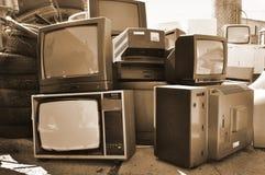Elektronik Fernsehen, Retro- Technologie stockbild