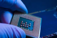 Elektronik-Ingenieur von Computer-CPU-Technologie lizenzfreie stockfotografie