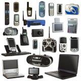 Elektronik lokalisiert auf einem weißen Hintergrund Lizenzfreie Stockfotos