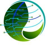 Elektronik mit Natur stock abbildung