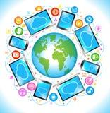 Elektronik-Sozialmediakommunikation Stockfoto