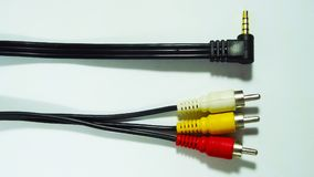 elektronik Trådar för anslutning royaltyfria bilder