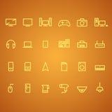 Elektronik und Geräteikonen Lizenzfreie Stockfotos