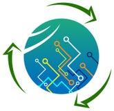 Elektronik-Wiederverwertung lizenzfreie abbildung