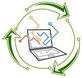 Elektronik-Wiederverwertung stock abbildung