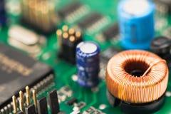 Elektronik zerteilt sechs Lizenzfreies Stockbild