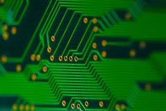 Elektronika - achter van een kringsraad Stock Afbeeldingen