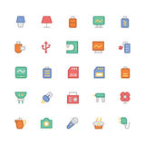 Elektronika Barwione Wektorowe ikony 9 Obrazy Stock