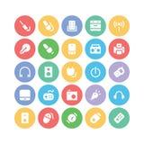Elektronika Barwione Wektorowe ikony 6 ilustracja wektor
