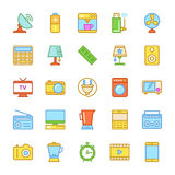 Elektronika Barwione Wektorowe ikony 2 Obraz Royalty Free