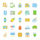 Elektronika Barwione Wektorowe ikony 6 Zdjęcia Stock