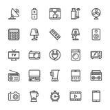 Elektronika Barwione Wektorowe ikony 2 Zdjęcie Stock