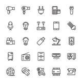 Elektronika Barwione Wektorowe ikony 1 Obraz Stock