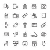 Elektronika Barwione Wektorowe ikony 6 Obrazy Royalty Free