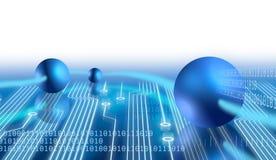Elektronika en mededeling stock illustratie