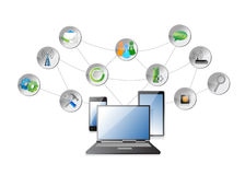 Elektronika i apps diagram ilustracja wektor