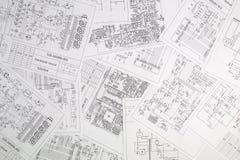 Elektronika i inżynieria Drukowani rysunki elektryczny circ zdjęcia stock