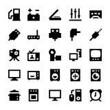 Elektronika i przyrząd Wektorowe ikony 7 ilustracja wektor