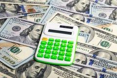 elektronika kalkulatora amerykanin sto dolarów obrazy stock