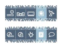 elektronika prętowe ikony Zdjęcia Royalty Free