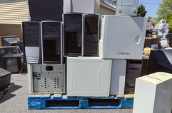 Elektronika Recycling Royalty-vrije Stock Afbeeldingen