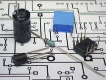 Elektronika składniki i PCB zdjęcia stock