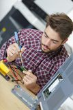 Elektronika studencki lutowniczy przyrząd obrazy stock