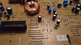 elektronikacomponenten van autoaudio Royalty-vrije Stock Foto's