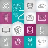 Elektronikdesign Vektor-Entwurfsikonen mit Farbmodernem Hintergrund Lizenzfreie Stockbilder