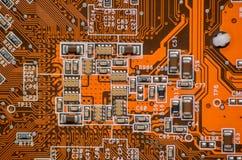 Elektroniki części komputerowy układ scalony Obrazy Stock