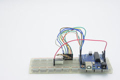 Elektroniki microcontroller Obraz Royalty Free