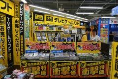 elektronikjapanen shoppar Arkivbilder