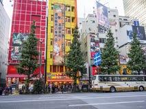Elektroniklager på Akihabara den elektriska staden, Tokyo arkivbilder