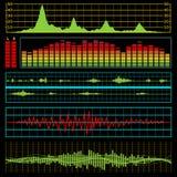 elektronikmusikwaves Arkivfoto