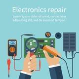 Elektronikreparatur Technologiereparaturen Stockbild