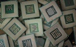 Elektronikschrott-CPUs Stockfotos