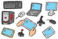 Elektroniksymbole Lizenzfreies Stockfoto