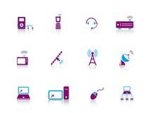 elektroniksymbolsserie Arkivfoton