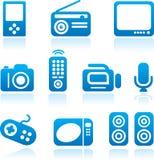 elektroniksymbolsset Arkivfoto