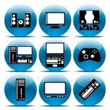 elektroniksymbolsset Arkivfoton