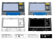 Elektronikvalurna Argentina royaltyfri illustrationer