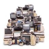 Elektronisch afval klaar voor recycling royalty-vrije stock afbeeldingen