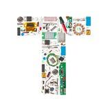 Elektronisch alfabet Stock Afbeelding