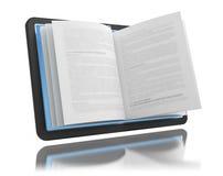 Elektronisch boek E-lezing E-leert Stock Afbeelding