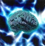 Elektronisch Brain Design Stock Afbeelding
