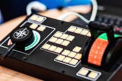 Elektronisch controlebord stock foto's